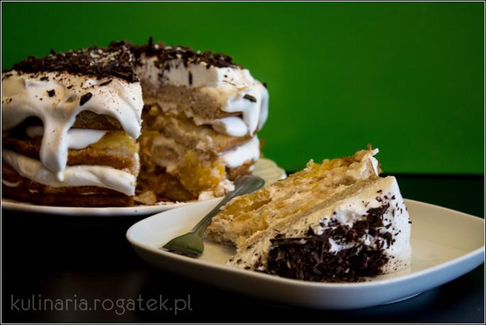 Tort kokosowo-ananasowy. Bez glutenu, jajek i laktozy