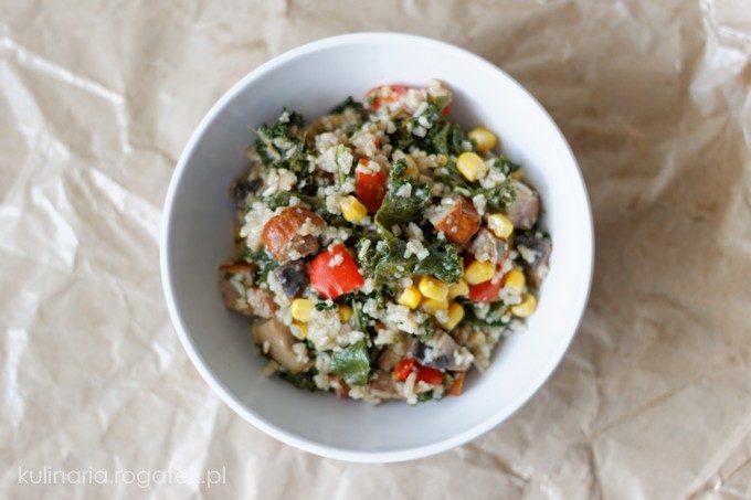 Ryż z warzywami i kiełbasą śląską